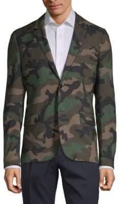 Valentino Camouflage-Print Sportcoat