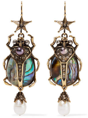 Alexander McQueen Gold-tone Multi-stone Earrings