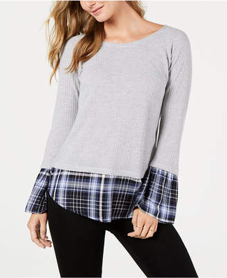 Style&Co. Style & Co Contrasting Hem & Cuff Top