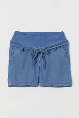 H&M MAMA Lyocell Shorts - Blue