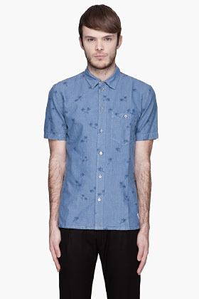Paul Smith Blue chambray palm t-shirt