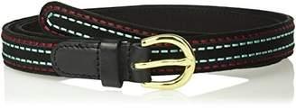 House of Boho Rice Stitch Embroidery 100% Leather Belt