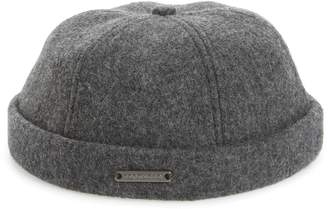 Crown Cap Melton Wool Blend Knit Cap