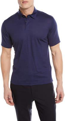 Ermenegildo Zegna Wool-Linen Polo Shirt