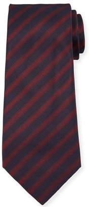 Giorgio Armani Men's Striped Woven Jacquard Tie, Red