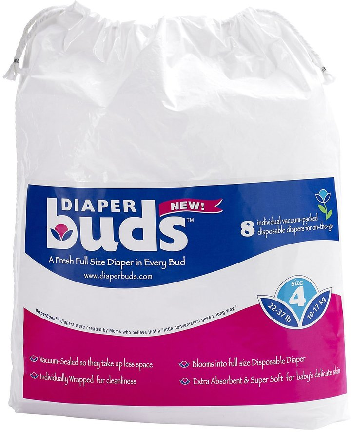 DiaperBuds Large Bag Travel Diapers Size 2