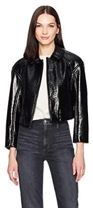 Rebecca Taylor Women's Textured Vegan Leather Jacket