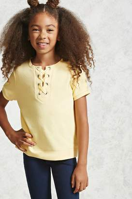 Forever 21 Girls Terry Lace-Up Tee (Kids)