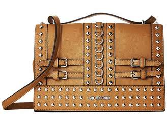 Love Moschino Shoulder Bag with Belt Studs