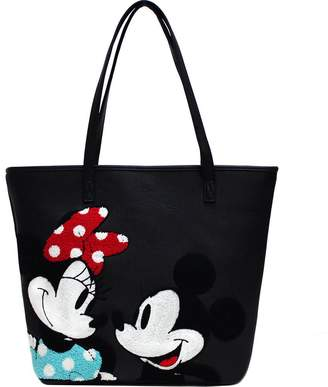 Loungefly Disney Minnie N' Mickey Mouse Tote Bag Faux Leather Shoulder Bag Purse