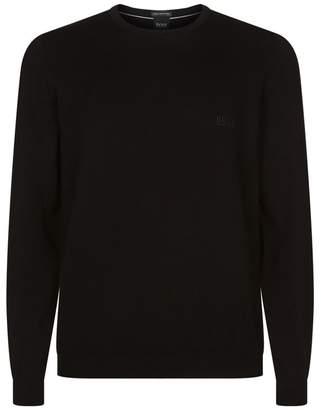BOSS Cotton Crew Neck Sweater