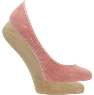 Fruit of the Loom Women's No Show Liner Socks - 2 Pairs
