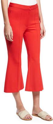 5352a7ac4b396 ... Tibi Tailored Ponte Flare-Leg Cropped Pants, Red
