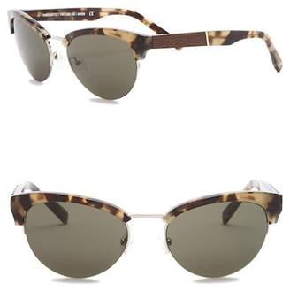 Shwood Men's Hayden 53mm Clubmaster Sunglasses