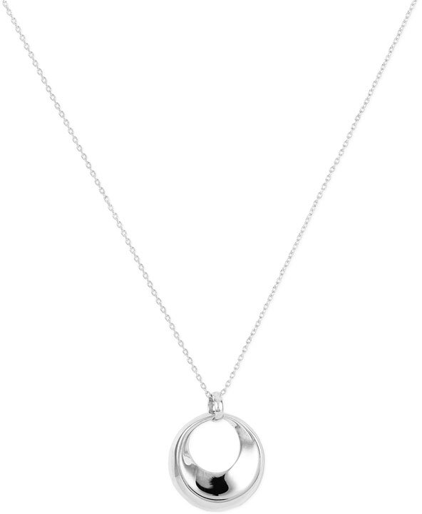 Argento Vivo Silver Circle Pendant Necklace