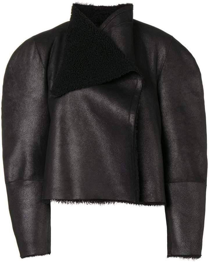 draped shearling jacket