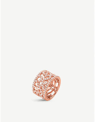 Folli Follie Fashionably rose gold-plated lace ring