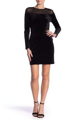 Just For Wraps Bodycon Velvet Dress