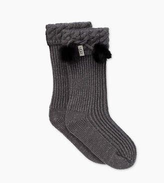 UGG Raana Pom-Pom Rainboot Sock