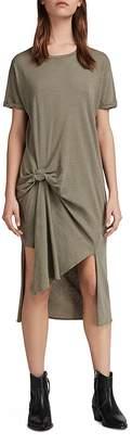 AllSaints T-Rivi Ida Pintuck T-Shirt Dress