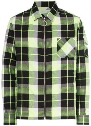 Off-White checked zip front shirt