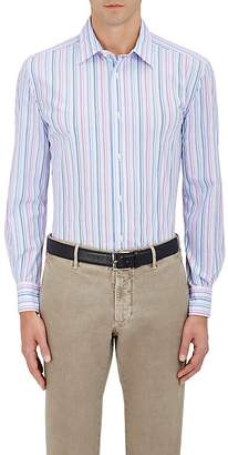 Piattelli MEN'S STRIPED COTTON POPLIN DRESS SHIRT