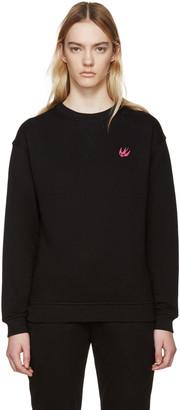 McQ Alexander Mcqueen Black Embroidered Pullover $240 thestylecure.com