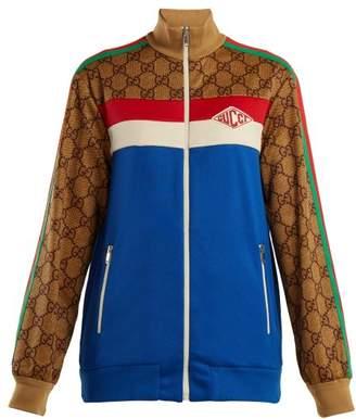 Gucci Logo Print Track Jacket - Womens - Blue Multi