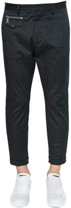 DSQUARED2 16cm Hockney Stretch Twill Cotton Pants