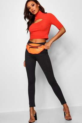 boohoo Shrea Thick Ponte High Waist Leggings