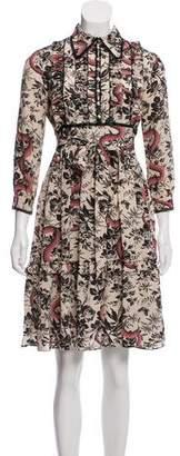 Gucci 2016 Herbarium Snake Print Dress w/ Tags