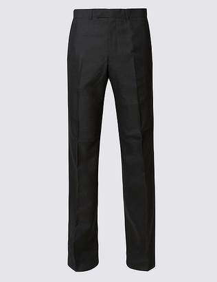 Marks and Spencer Charcoal Regular Fit Trousers