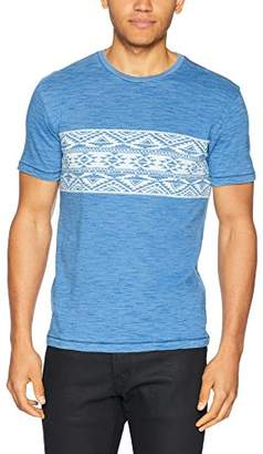 Lucky Brand Men's Aztec Chest Stripe Crew Neck TEE Shirt