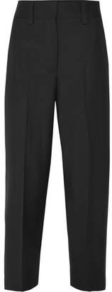 Acne Studios Cropped Wool And Mohair-blend Pants - Black