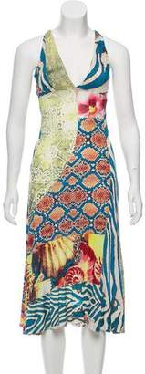 Just Cavalli Sleeveless Cutout Dress