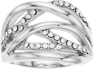Brilliance+ Brilliance Crisscross Ring with Swarovski Crystals