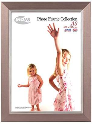 Inov-8 Inov8 Inset Photo Frame, Plastic, Pewter Silver, A3, Pack of 2