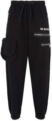 Natasha Zinko Logo Zip Sweatpants