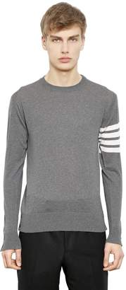 Thom Browne Intarsia Stripes Merino Wool Sweater