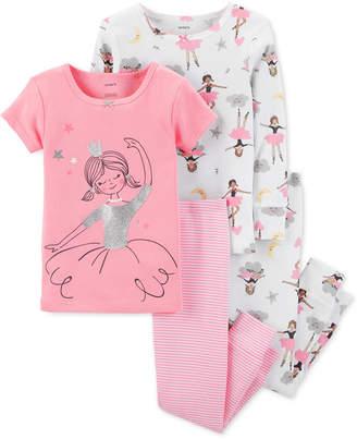 d2fc6a0cfa at Macy s · Carter s Toddler Girls 4-Pc. Ballerina Snug-Fit Cotton Pajama  Set