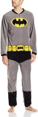 Briefly Stated Men's Batman Blanket Sleeper Onesie