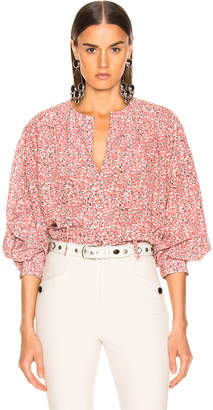 Isabel Marant Amba Top in Pink | FWRD