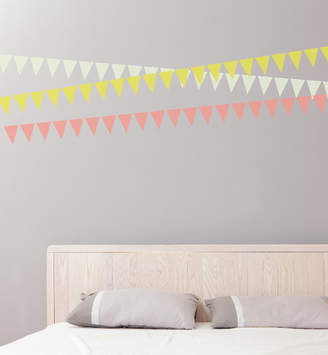 Little Sticker Boy Everyday Bunting Set Of 30 Wall Decal