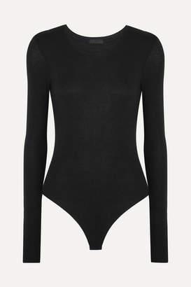 ATM Anthony Thomas Melillo Stretch-micro Modal Bodysuit - Black