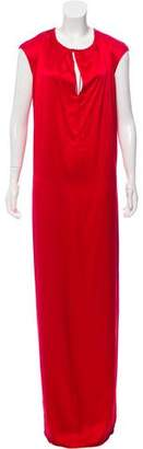 972e80ea6ed2e Balenciaga Sleeveless Silk Evening Dress