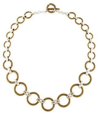 Stephen Dweck Diamond Textured Link Collar Necklace
