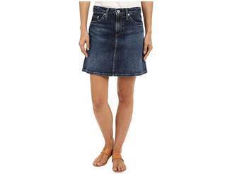 AG Adriano Goldschmied The Ali A-Line Mini Denim Skirt in Indigo Women's Skirt
