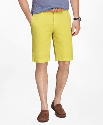 "Brooks Brothers Garment-Dyed 11"" Lightweight Cotton Bermuda Shorts"