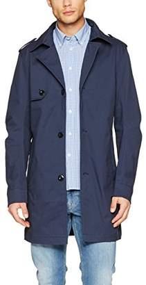Tom Tailor Men's Authentic Trenchcoat Coat (Black Iris Blue 6740), Large