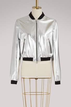 Gauchere Leandre leather bomber jacket